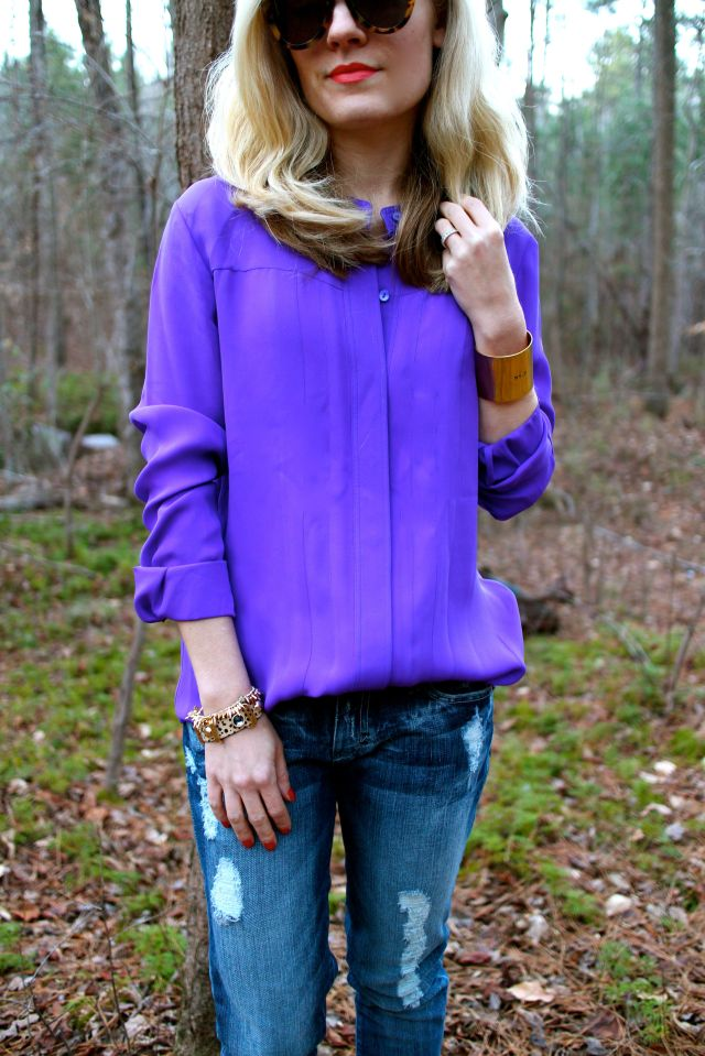 purple half