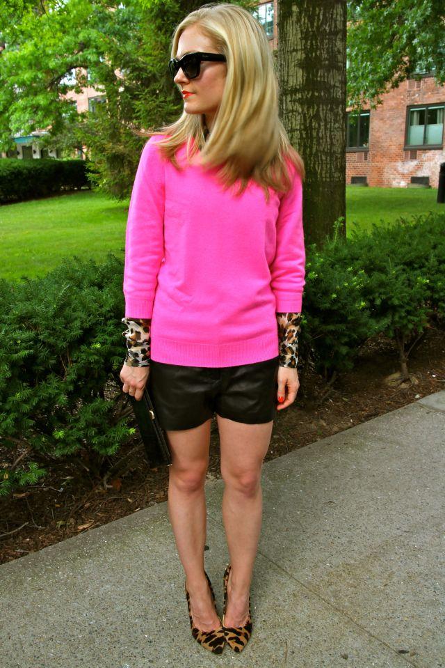 pink leo hair
