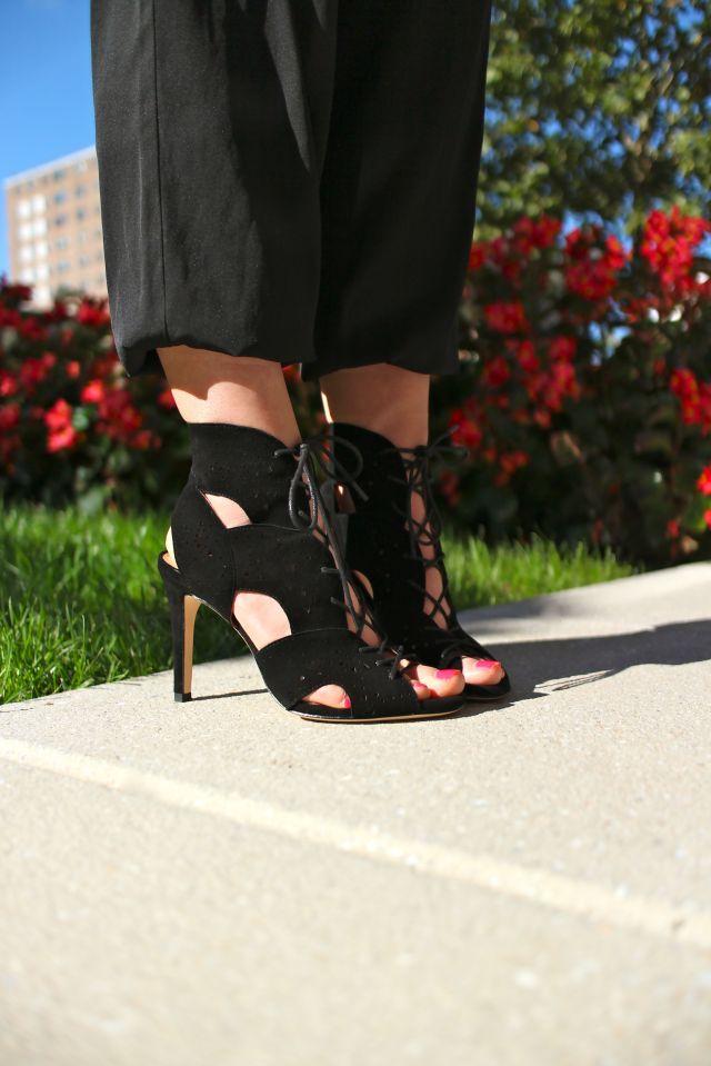 noie et blanc shoes