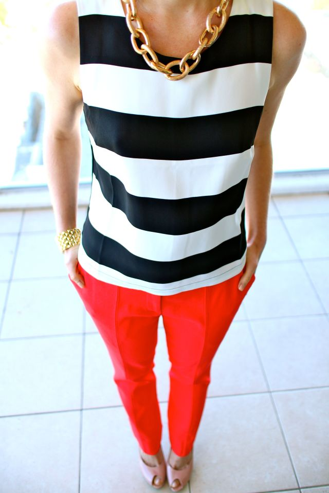 stripe red down