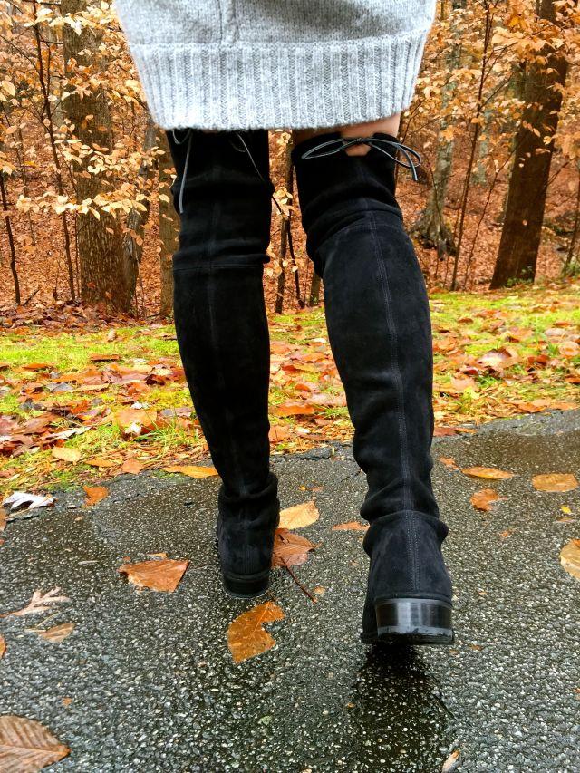black w shoe